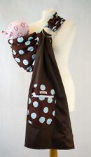 Ring Sling Baby Sling Brown/Blue Polka Dot Design Cradle or Hip Sling 180cm