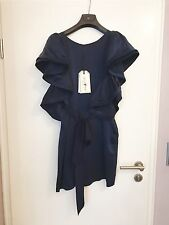 LANVIN ❤ h&m robe FR 38 100% Soie Robe de soie silk bleu dress UK 12 jades NEUF