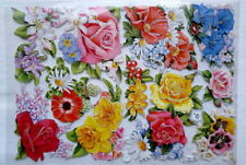 Glanzbilder Oblaten ~  ef 7064 Sommerblumen Rosen  Scrap Poesie