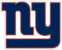 """New York Giants NFL Color Die Cut Vinyl Decal You Choose Size 3""""-28"""""""