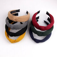 Women's Knotted Bow Cross Headband Hair Band Head Wrap Turban Hair Accessories