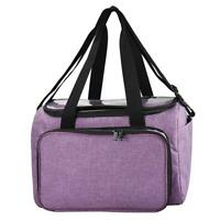 Crochet Hooks Thread Yarn Storage Bag DIY Organizer Holder (Purple) R1BO