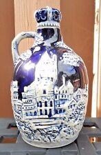 Cobalt Blue Porcelain Jug-Music Box-Liquor Decanter-Crown Stopper