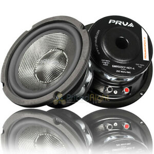 "Pair PRV Audio 6.5"" Mid Range Loudspeakers 500 Watts Max 4 Ohm 6MR500CF-NDY-4"