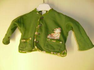 Grüne Jacke mit Bärchen