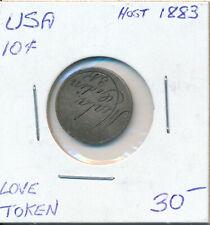 USA 10 CENTS HOST 1883 LOVE TOKEN
