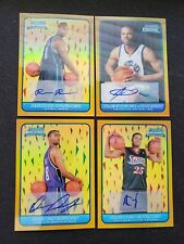 BOWMAN CHROME 06-07 GOLD ROOKIE RC AUTO LOT (4) #/50!BREWER/DOUBY/CARNEY/JOHNSON