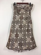 Speechless Dress Junior Size 9 Brown Halter Geometric A Line