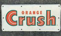 Vintage Orange Crush Metal Soda Sign Stout 19.75x9