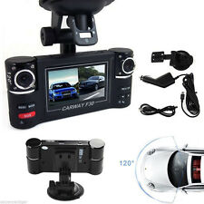 "HD 2.7"" 16:9 LCD F30 CARWAY Dual Rotated 180  Lens DVR Dash Cam Night Vision"