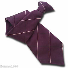 Purple Mens Silk Clip On Tie Clipper - with Pink and Black Pinline Check
