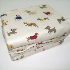 Cuddl Duds Heavyweight Cotton Dogs in Sweaters Flannel Twin Sheet Set New