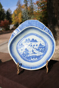 Antique Chinese Export Porcelain Blue and White Bowl Qing Period