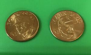 1990 Sports Stars Collector Coin Bo Jackson Mark Davis Kansas City Royals Bandai