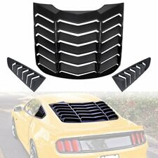 Rear Window Louver + Quarter Side Scoop Cover Vent For Ford Mustang 2015-2018