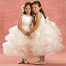 NWT Pageant White Pink Flower Girl Wedding Dress Size 7