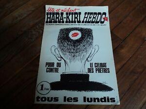 AFFICHE du journal HARA KIRI HEBDO N°3 du 17 février1969 dessin de CABU