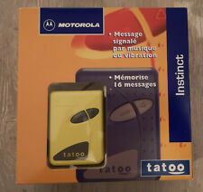 NEUF Original TATOO Motorola VINTAGE PAGER BEEPER