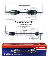 For Chevy Geo Prizm Toyota Celica FWD 2 Front CV Axle Shaft Assies SurTrack Set