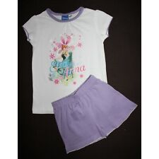 e850f65b05954 DISNEY pyjashort LA REINE DES NEIGES 2-3 ans pyjama pyjacourt violet blanc