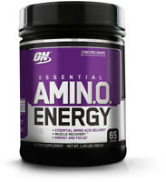 OPTIMUM NUTRITION ESSENTIAL AMINO ENERGY, Concord Grape, Keto Friendly And With