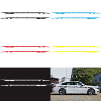 2pcs Universal Car Side Body Graphics Long Stripe Vinyl Decals Decor Sticker DIY