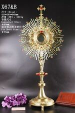 """Rare Fine Large Monstrance with Lunette Beautiful and Affordable! 37"""" High X67&B"""