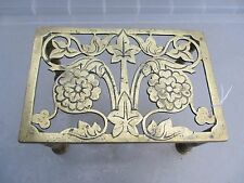 Antique Brass Trivet Cake Iron Planter Stand Holder Victorian Art Nouveau WT&S