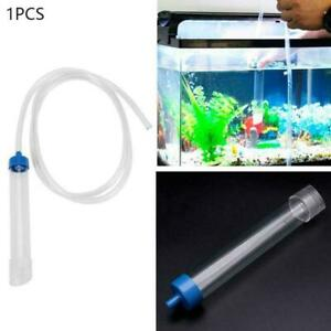 Aquarium Fish Tank Gravel Cleaner Syphon Vacuum Water Pumps Changer Best I7E7