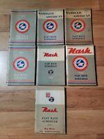 American Motors Nash Rambler Flat Rate Schedule Manual Book Lot 1950's 1960's