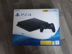 Sony Playstation 4 500go Ps4 Slim Console Avec Boîte 2 Manettes