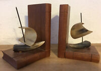 Vintage Bookends  WOODEN  Pair