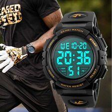 SKMEI Men Quartz Digital Watch Sports S-Shock LED Waterproof Wristwatch