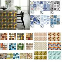 Mosaic Wall Tile Stickers Self Adhesive  Waterproof Kitchen Bathroom Wall Decor