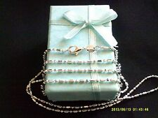 """Necklace 925 Sterling Silver """" DOT DASH """" Chain 55cm x 1.4mm Beaut Gift Idea NEW"""