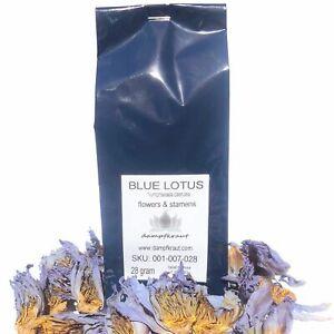 28 Gramm Blauer Lotus Blüten und Stamen (Nymphaea caerulea) langsam getrocknet