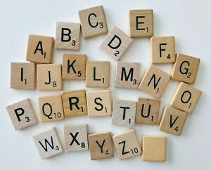 Scrabble Game Crafts Letter Replacement Pieces Natural Wood Choose 1 or More