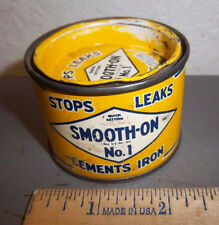 Vintage Smooth On no. 1, 7 oz Tin, great colors, quick setting iron cement