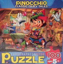 "NEW Eurographics Jigsaw Puzzle 100 Pieces 13"" x 10"" Pinocchio 8100-0421"