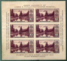 "United States Scott # 750 "" American Philatelic Society "" Souvenir Sheet (6) NH"