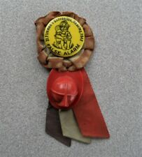 >orig. 1948 Reading, Pa. FIREMEN'S CONVENTION PIN w/Ribbons, Fireman's Hat++
