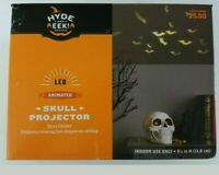 Hyde and Eek! Halloween Animated Rotating Skull Bats Projector with LED Bulbs