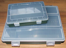 2 x Fishing Tackle Boxes 1 x  Large & 1 x Small - Sea, Carp, Coarse