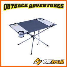 OZTRAIL LEISURE TABLE -  SMALL CAMPING COFFEE TABLE WITH DRINK HOLDERS