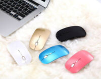 Slim 2400DPI 4 Buttons Optical USB Wireless Gaming Mouse Mice For PC Laptop