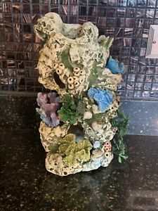 Fish Tank Decoration Coral Flowers Fresh or Salt Water 12 x 7 Inches