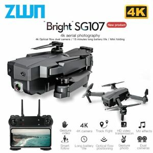 SG107 Drone 4K Camera WIFI Fpv Dual 50 x Zoom Lens Follow Me Foldable Quadcopter