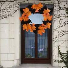 Halloween Props Leaf Wreath Autumn Maple Garland Decor Home Door Ornament Z