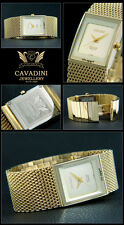 Dreamy & Beautiful Cavadini Men's Watch Ip Gold Plated with Box Issues