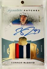 15-16 UD The CUP CONNOR McDAVID AUTO Patch RC Rookie Signature Patches 39/99